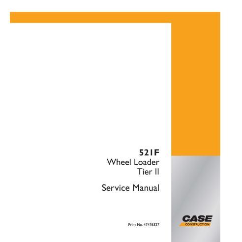 Manual de serviço em pdf da carregadeira de rodas Case 521F Tier 2 - Case manuais