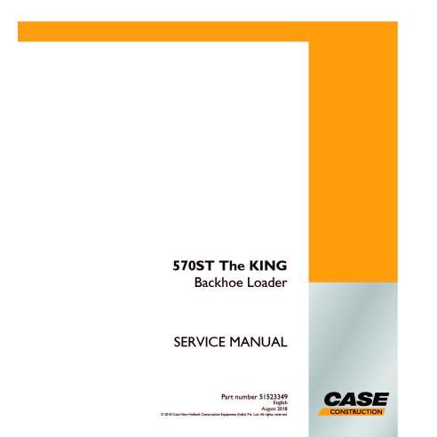 Manual de serviço em pdf da retroescavadeira Case 570ST The KING - Case manuais
