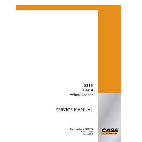 Cargadora de ruedas Case 521F Tier 4 manual de servicio pdf - Case manuales