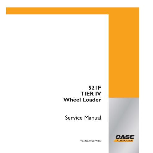 Cargadora de ruedas Case 521F Tier IV pdf manual de servicio - Case manuales