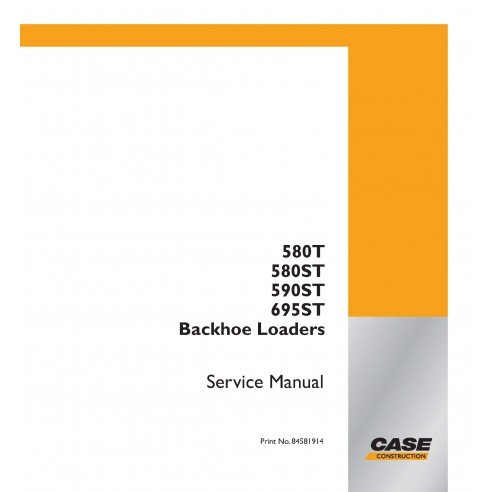 Case 580T, 580ST, 590ST, 695ST backhoe loader pdf service manual  - Case manuals