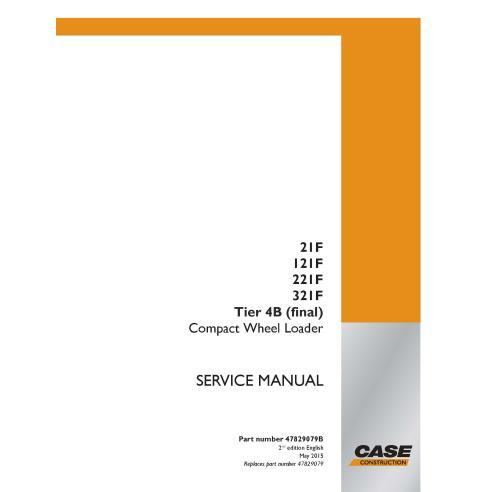 Manual de serviço em pdf da carregadeira de rodas compacta Case 21F, 121F, 221F, 321F Tier 4B - Case manuais