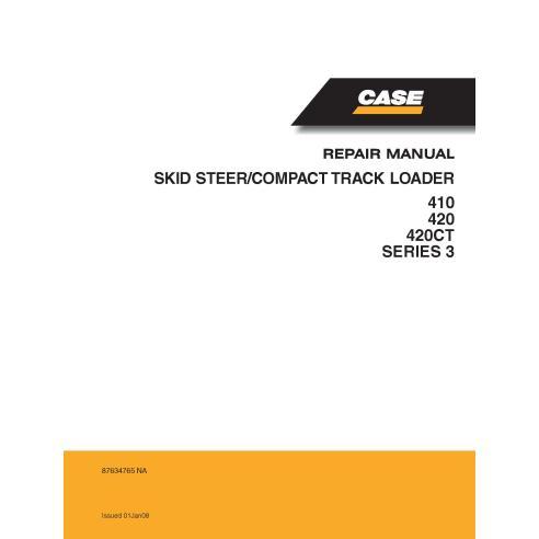 Case 410, 420, 420CT Series 3 skid loader manual de serviço em pdf - Case manuais