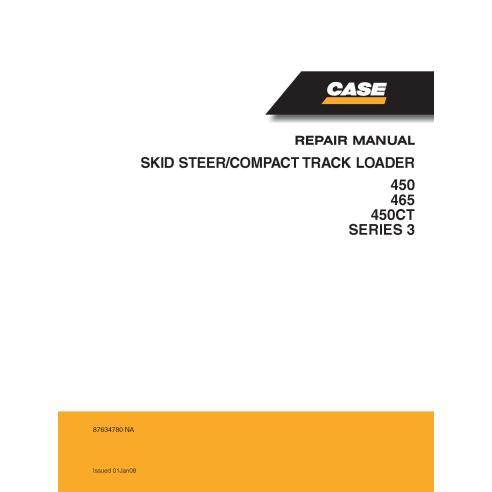 Manuel de service PDF pour chargeuse compacte Case 450, 465, 450CT série 3 - Case manuels