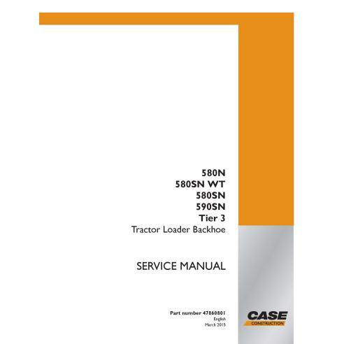 Case 580N, 580SN WT, 580SN, 590SN Tier 3 retroexcavadora manual de servicio pdf - Case manuales