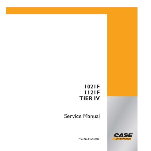 Manuel de service PDF de la chargeuse sur pneus Case 1021F, 1121F Tier IV - Case manuels