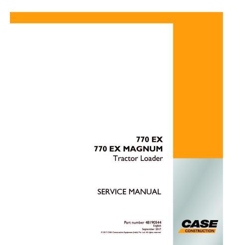 Manuel d'entretien du chargeur de tracteur Case 770 EX MAGNUM PDF - Case manuels