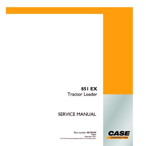 Case 851 EX tractor loader pdf service manual  - Case manuals