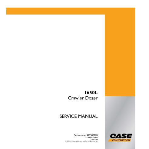 Manual de serviço em pdf Case 1650L crawler dozer - Case manuais