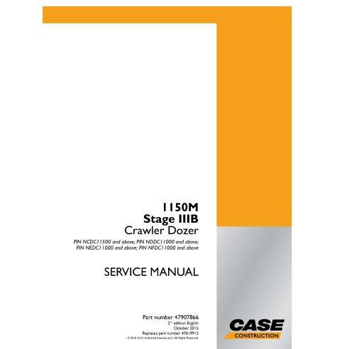 Manual de serviço em pdf do trator de esteira do Case 1150M Stage IIIB - Case manuais