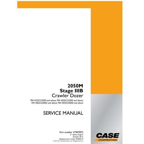 Manual de serviço em pdf Case 2050M Stage IIIB dozer trator de esteira - Case manuais