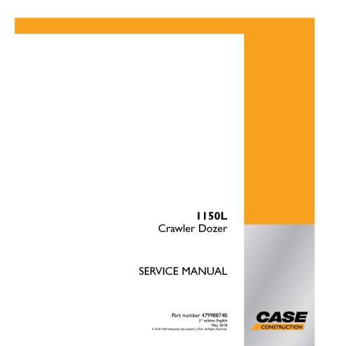Case 1150L, 3ª edição, manual de serviço em pdf para buldôzer - Case manuais