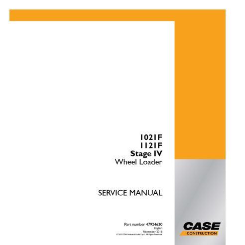 Manual de serviço em pdf da carregadeira de rodas Case 1021F, 1121F Estágio IV - Case manuais