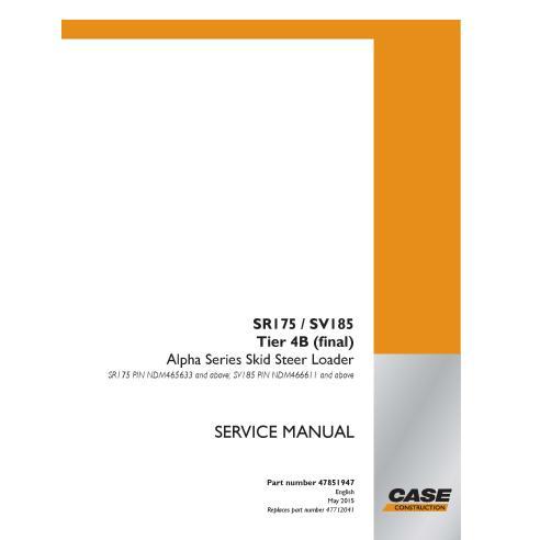Manual de serviço em pdf do carregador de skid Case SR175, SV185 Tier 4B - Case manuais