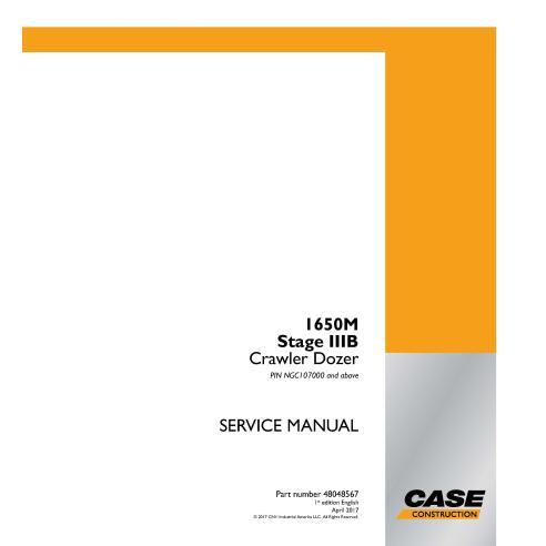 Case 1650M Stage IIIB PIN NGC107000 + bulldozer sur chenilles manuel de service pdf - Case manuels
