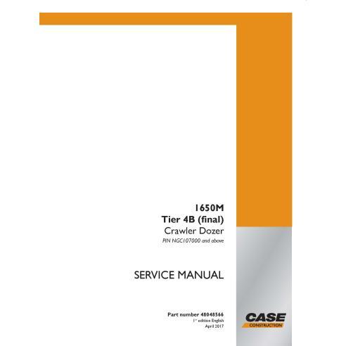 Bulldozer sobre orugas Case 1650M Tier 4B pdf manual de servicio - Case manuales
