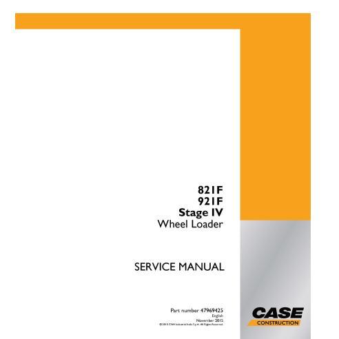 Cargadora de ruedas Case 821F, 921F Stage IV manual de servicio en pdf - Case manuales