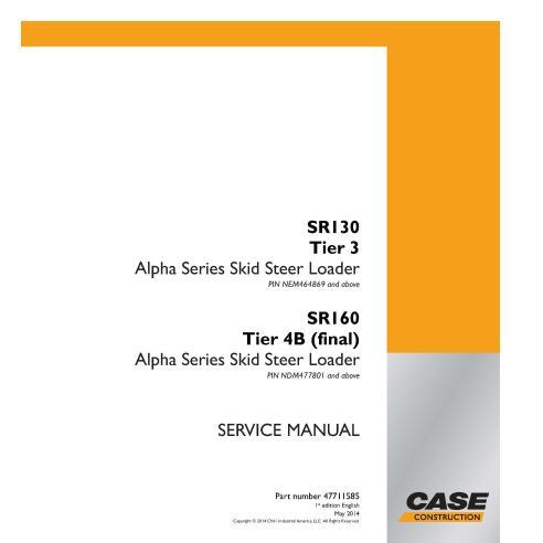 Manual de serviço em pdf do case SR130 Tier 3, SR160 Tier 4B skid loader - Case manuais