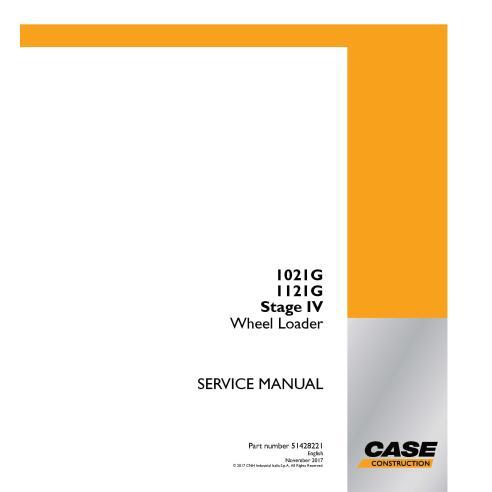 Manual de serviço em pdf da carregadeira de rodas Case 1021G, 1121G Stage IV - Case manuais