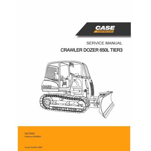 Manuel d'entretien PDF pour bulldozer sur chenilles Case 650L Tier 3 - Case manuels