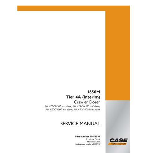 Manuel d'entretien PDF pour bulldozer sur chenilles Case 1650M Tier 4A - Case manuels