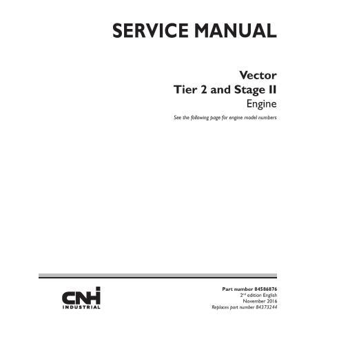 Manual de servicio en pdf del motor Case Vector Tier 2 y Stage II - Case manuales