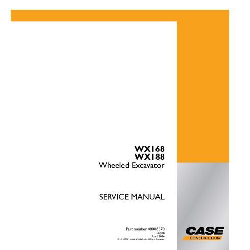 Case WX168, WX188 wheeled excavator pdf service manual  - Case manuals