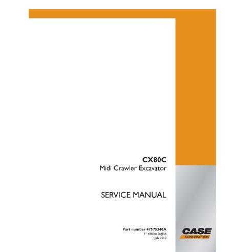 Manual de serviço em pdf da escavadeira midi da Case CX80C - Case manuais