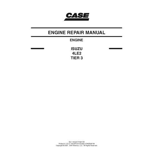 Case ISUZU 4LE2 TIER 3 engine pdf service manual  - Case manuals