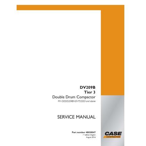 Manuel de service PDF du compacteur Case DV209D Tier 3 - Case manuels