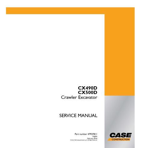 Case CX490D, CX500D crawler excavator pdf service manual  - Case manuals