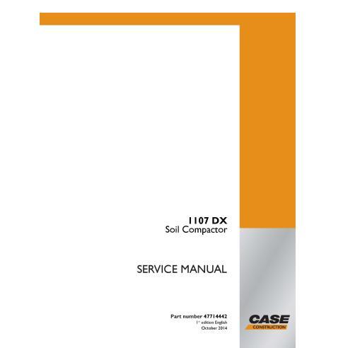 Case 1107 DX soil compactor pdf service manual  - Case manuals