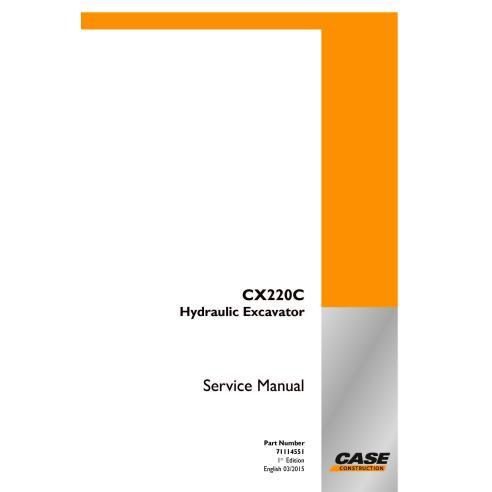 Manual de serviço em pdf da escavadeira de esteira Case CX220C - Case manuais