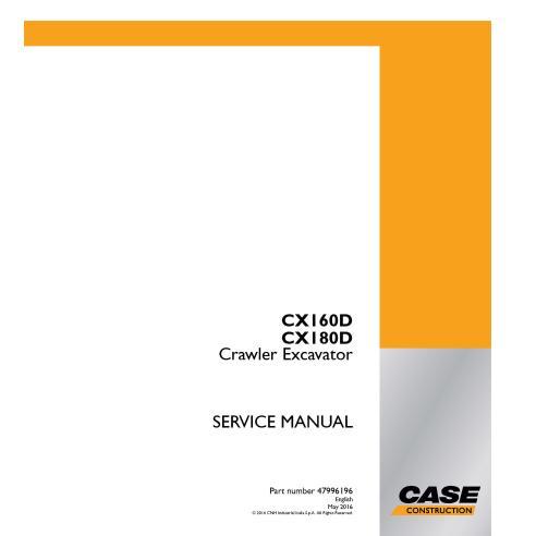 Manuel d'entretien de la pelle sur chenilles Case CX160D, CX180D PDF - Case manuels