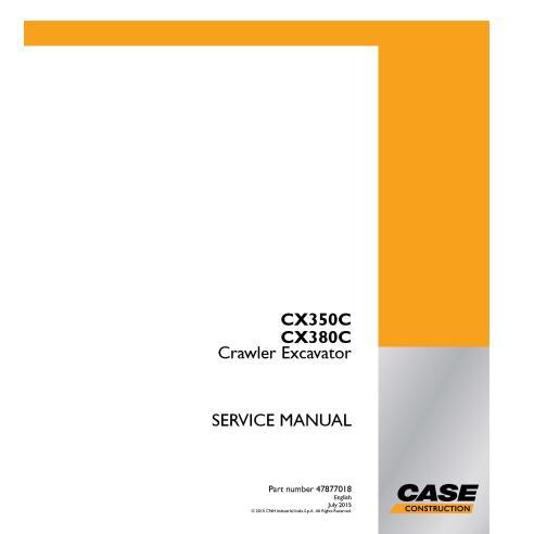 Case CX350C, CX380C crawler excavator pdf service manual  - Case manuals