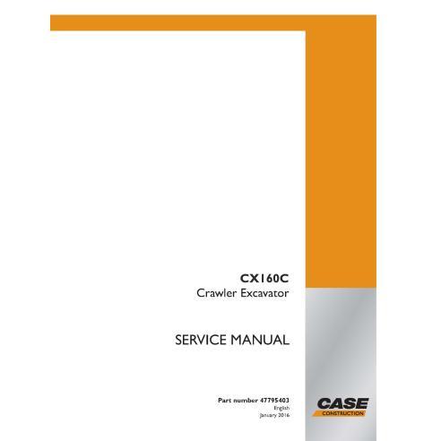 Manuel d'entretien de la pelle sur chenilles Case CX160C PDF - Case manuels