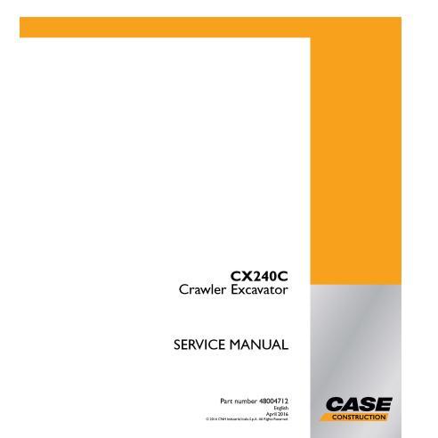 Manual de serviço em pdf da escavadeira de esteira Case CX240C - Case manuais