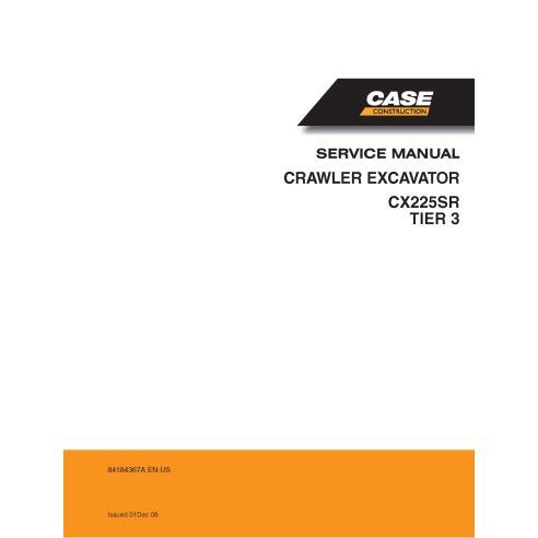 Excavadora de cadenas Case CX225SR Tier 3 pdf manual de servicio - Case manuales