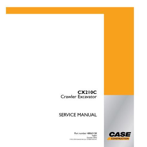 Manuel d'entretien de la pelle sur chenilles Case CX210C PDF - Case manuels