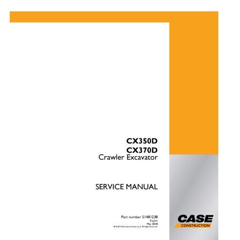 Case CX350D, CX370D crawler excavator pdf service manual  - Case manuals