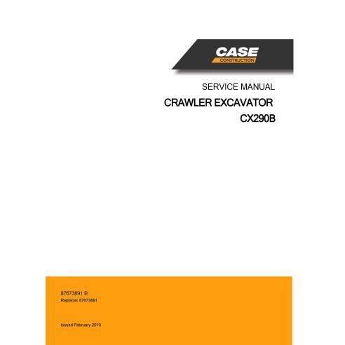 Case CX290B crawler excavator pdf service manual  - Case manuals