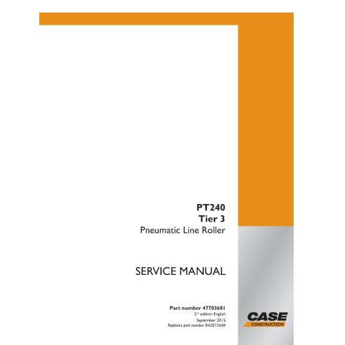 Manual de serviço em pdf do rolo da linha pneumática Case PT240 Tier 3 - Case manuais