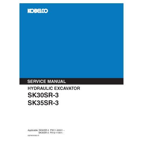 Kobelco SK30SR-3, SK35SR-3 hydraulic excavator pdf service manual  - Kobelco manuals