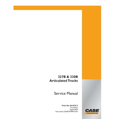 Case 327B, 330B articulated truck pdf service manual  - Case manuals