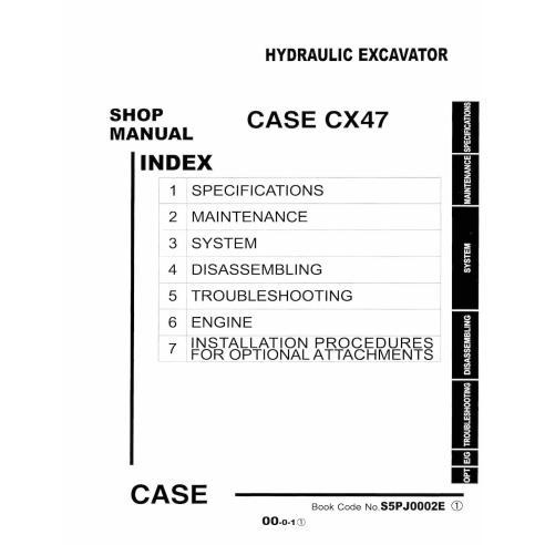 Case CX47 hydraulic excavator pdf service manual  - Case manuals