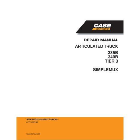 Case 335B, 340B TIER 3 articulated truck pdf service manual  - Case manuals