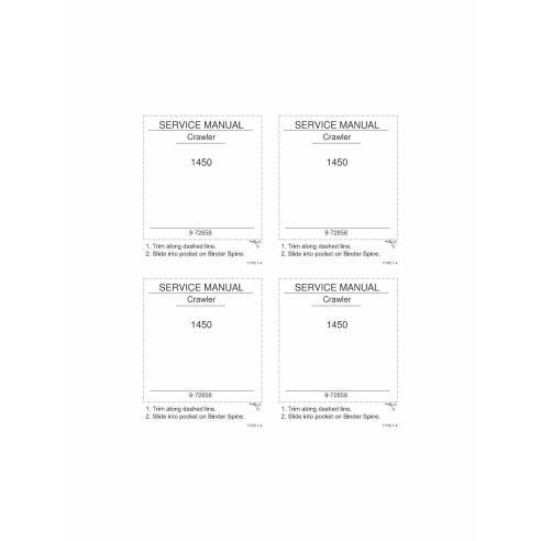 Case 1450 crawler loader pdf service manual  - Case manuals