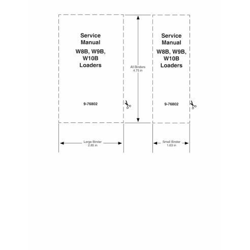 Case W8B, W9B, W10B loader pdf service manual  - Case manuals