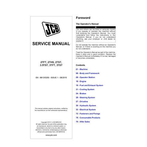 JCB 2TFT, 2THS, 2TST, 3.5TST, 3TFT, 3TST dumper pdf service manual  - JCB manuals