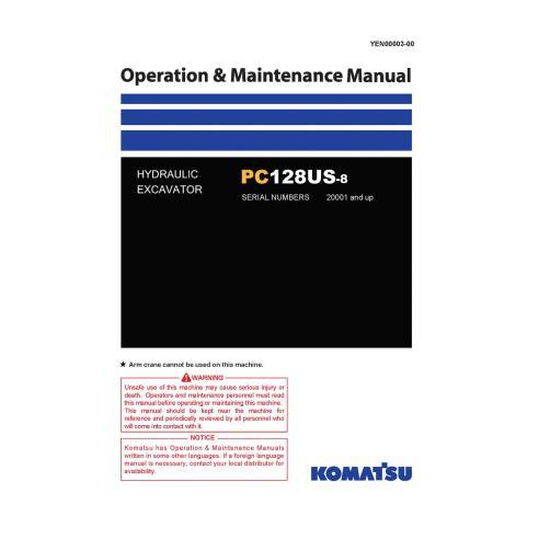 Komatsu PC128US-8 hydraulic excavator pdf operation & maintenance manual  - Komatsu manuals